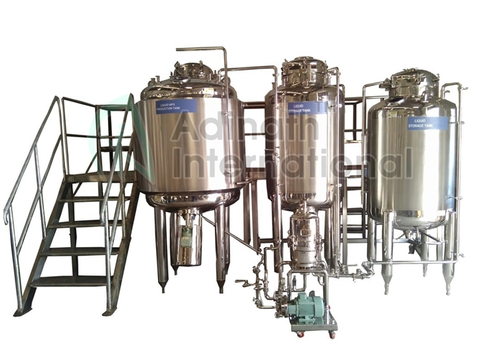Machine Specification of Syrup Manufacturing Plant