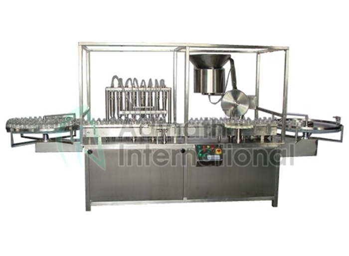 Automatic Vial Filling & Rubber Stoppering Machine