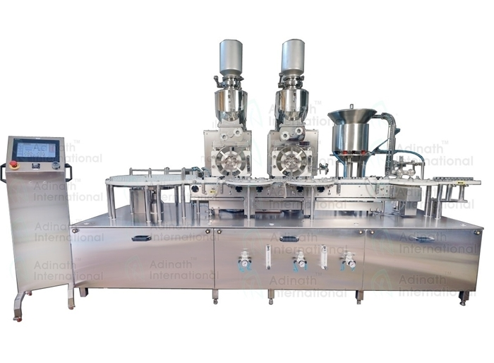 Injectable Powder Filling & Rubber Stoppering Machine