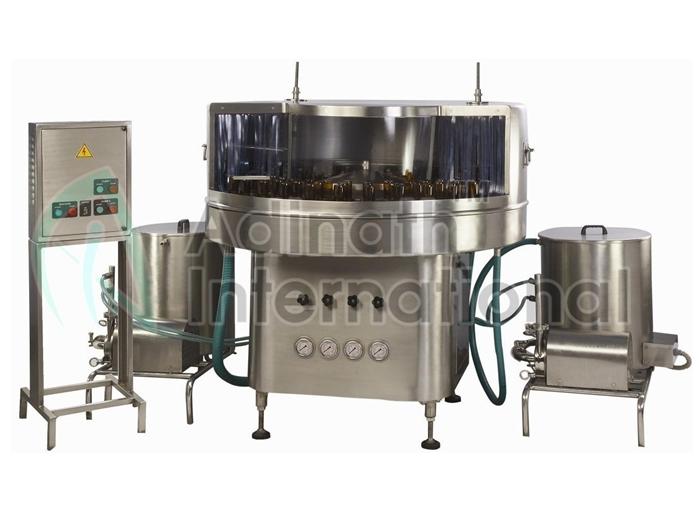 Rotary Bottle Washing Machine - Washing & Airjet Cleaning Machines