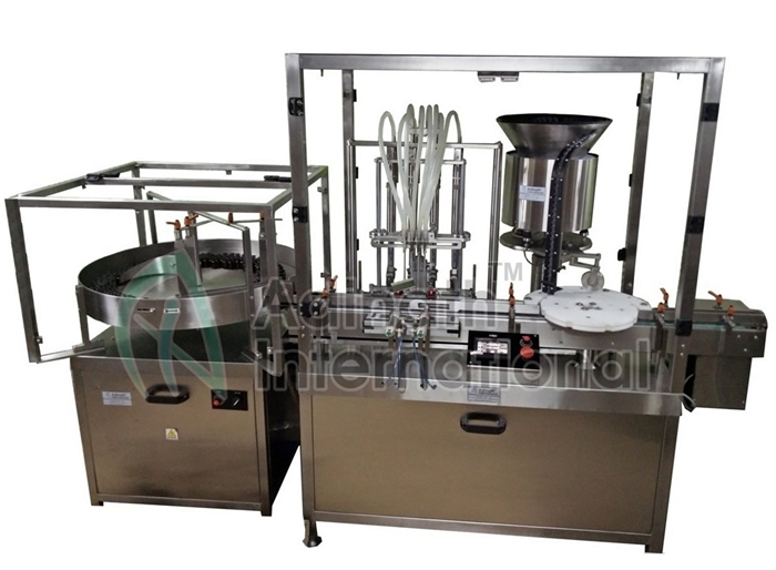 Vial Filling Stoppering & Capping Machine