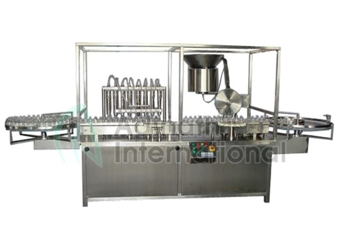 Vial Filling, Stoppering & Sealing Machine