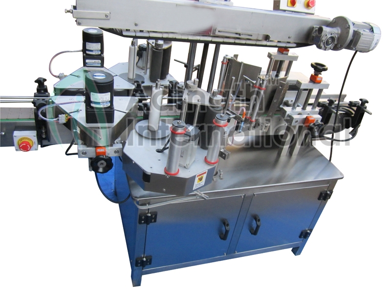 Front back and top side labeling machine