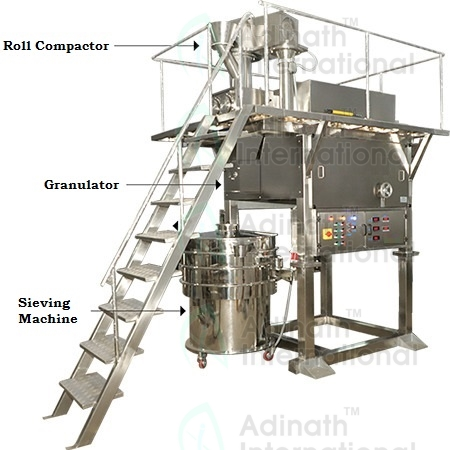 Roll Compactor with Granulation & Sifter Online Model